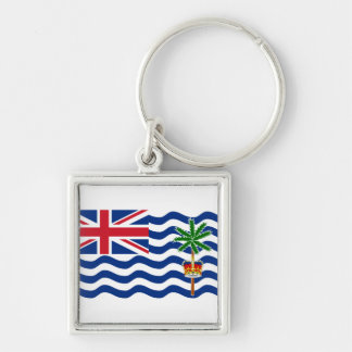 British Indian Ocean Territory Flag IO Silver-Colored Square Keychain