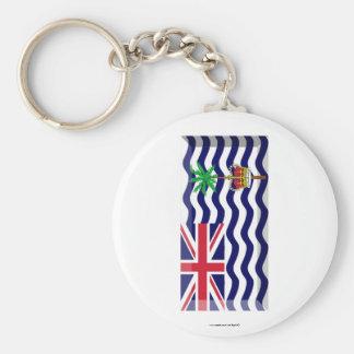 British Indian Ocean Territory Flag Jewel Basic Round Button Keychain