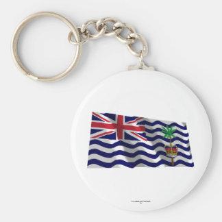 British Indian Ocean Territory Waving Flag Basic Round Button Keychain