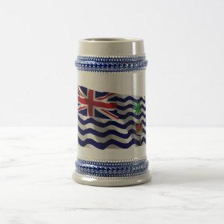 British Indian Ocean Territory Waving Flag Beer Stein