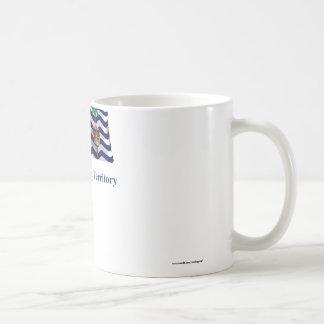 British Indian Ocean Territory Waving Flag, Name Coffee Mug
