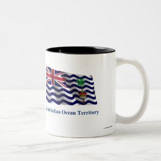 British Indian Ocean Territory Waving Flag, Name Two-Tone Coffee Mug