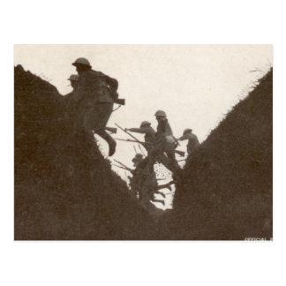 British Infantry Assault Postcard