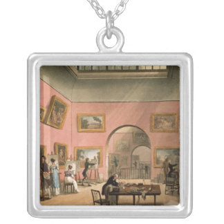 British Institution, Pall Mall Square Pendant Necklace