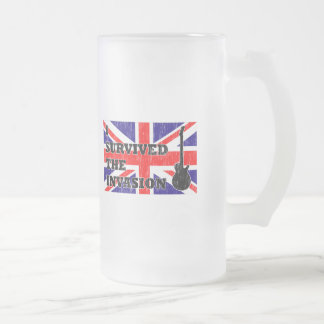 British Invasion Frosted Glass Beer Mug