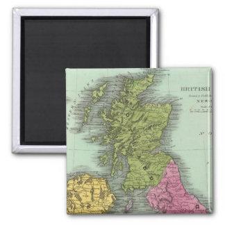 British Islands 2 2 Inch Square Magnet