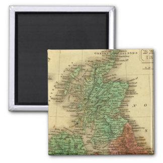British Islands 4 2 Inch Square Magnet
