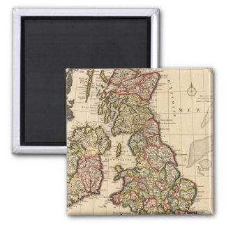 British Islands, England, Ireland 2 Inch Square Magnet