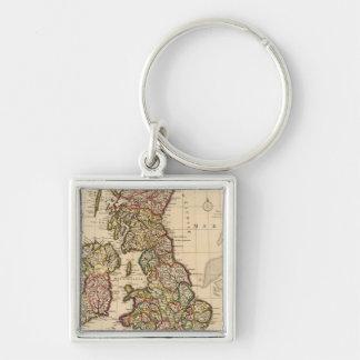 British Islands, England, Ireland Keychain