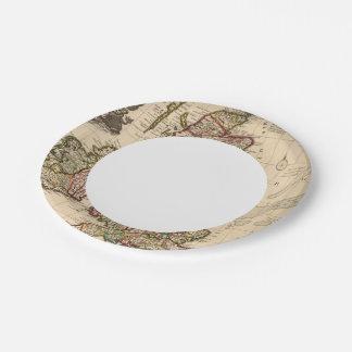 British Islands, England, Ireland Paper Plate