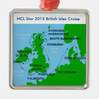 British Isle cruise Christmas ornaments