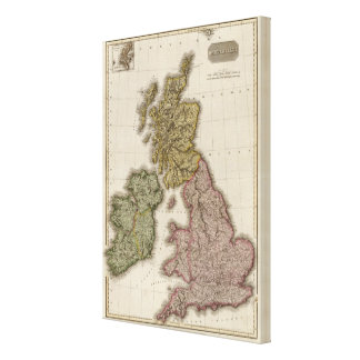 British Isles 11 Stretched Canvas Prints