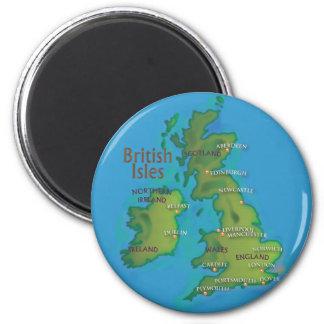 British Isles 2 Inch Round Magnet