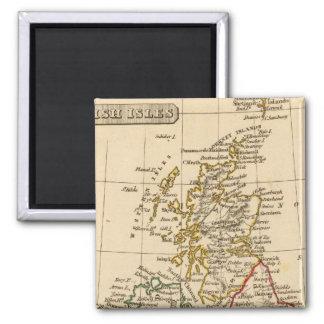 British Isles 2 Inch Square Magnet