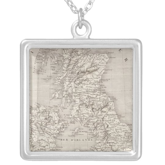 British Isles 2 Silver Plated Necklace