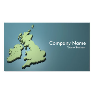 British Isles 3d 01 Double-Sided Standard Business Cards (Pack Of 100)