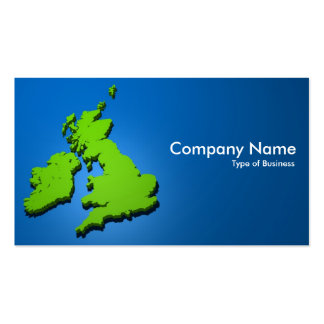 British Isles 3d 02 Double-Sided Standard Business Cards (Pack Of 100)