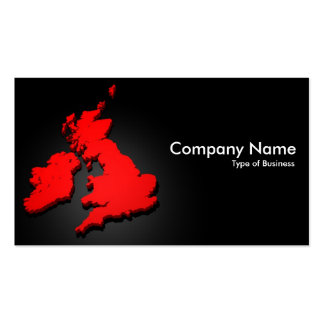 British Isles 3d 04 Double-Sided Standard Business Cards (Pack Of 100)
