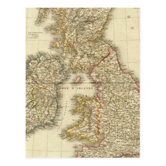 British Isles 4 Postcard