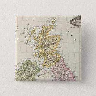 British Isles 6 Pinback Button