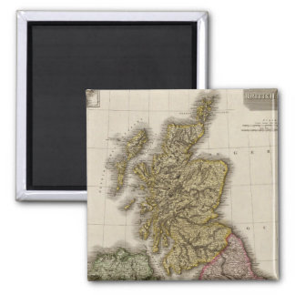 British Isles 7 2 Inch Square Magnet