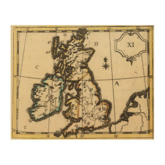 British Isles 7 Wood Canvases