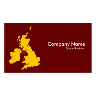 British Isles - Amber and Dark Maroon Double-Sided Standard Business Cards (Pack Of 100)