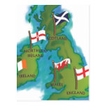 British Isles and Ireland Post Card
