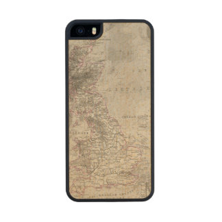 British Isles and surrounding sea Carved® Maple iPhone 5 Case