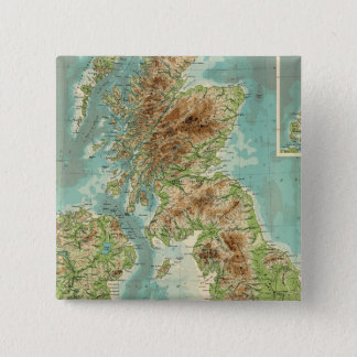 British Isles bathyorographical map Button