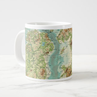 British Isles bathyorographical map Giant Coffee Mug