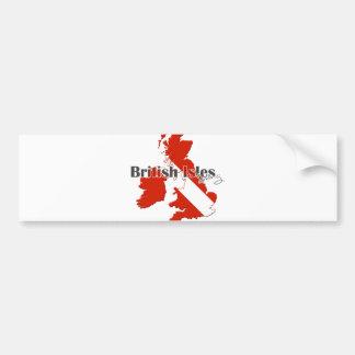 British Isles Diving Bumper Sticker