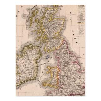 British Isles, England, Ireland Postcard