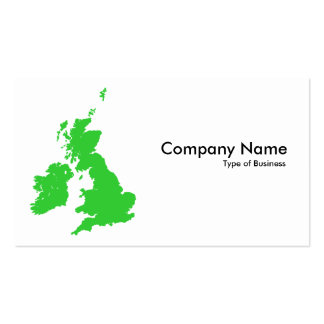 British Isles - Green Double-Sided Standard Business Cards (Pack Of 100)