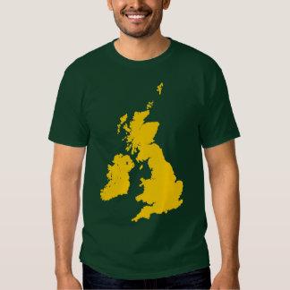 British Isles in Amber Shirt