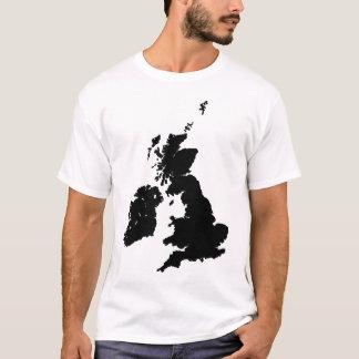 British Isles in Black T-Shirt