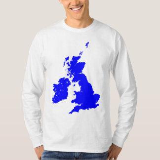 British Isles in Blue T-Shirt