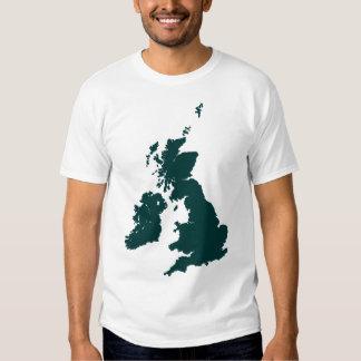 British Isles in Dark Green Shirt