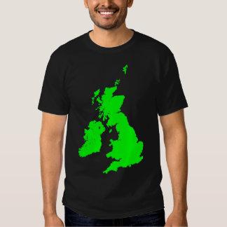 British Isles in Green T Shirt