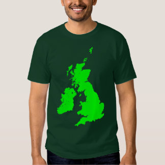 British Isles in Green Tee Shirt