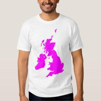 British Isles in Magenta T-shirt