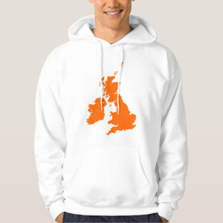 British Isles in Orange Hoodie