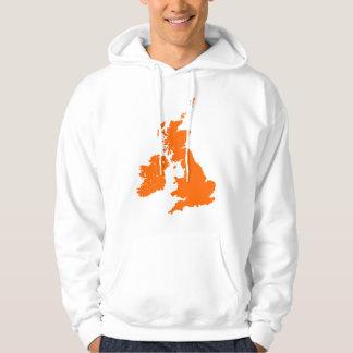 British Isles in Orange Sweatshirt