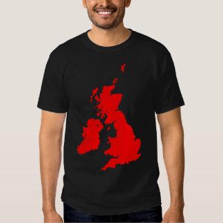 British Isles in Red T Shirt