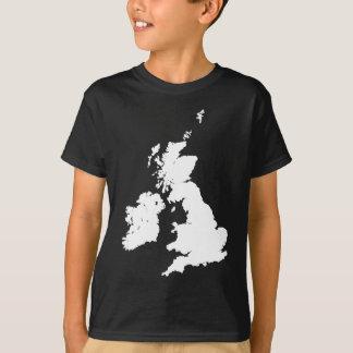 British Isles in White T-Shirt