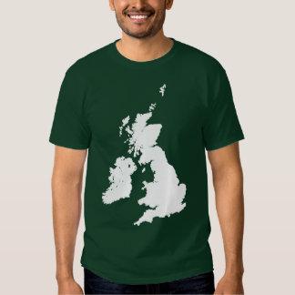 British Isles in White Tee Shirt