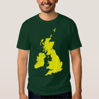 British Isles in Yellow Tee Shirt