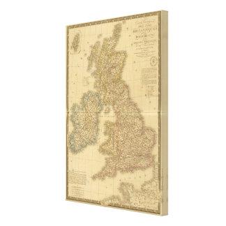 British Isles Map Canvas Print