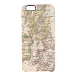 British Isles Map Clear iPhone 6/6S Case