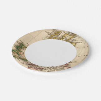 British Isles Map Paper Plate